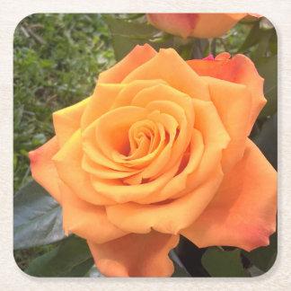 Porta copos cor-de-rosa da foto da laranja bonita porta-copo de papel quadrado