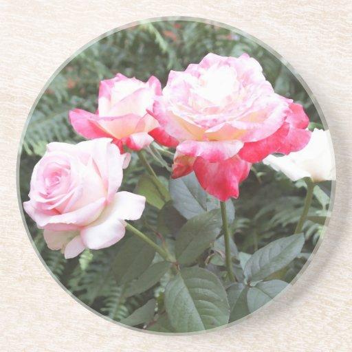 Porta copos cor-de-rosa dos rosas