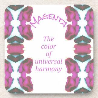 Porta-copos 'Cor magenta chique da harmonia universal