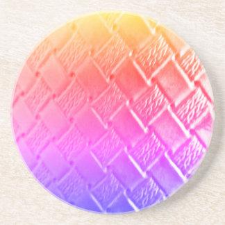Porta-copos Couro tecido multi cor