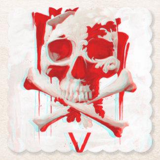 porta copos da mesa do crânio dos ossos da cruz porta-copo de papel