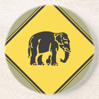 Porta-copos De Arenito Advirta os elefantes que cruzam o ⚠ tailandês do