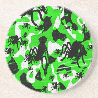 Porta-copos De Arenito Aranha verde Camo