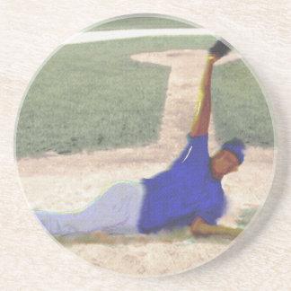 Porta-copos De Arenito Arte difícil da captura do basebol