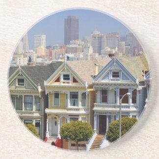 Porta-copos De Arenito As senhoras pintadas famosas de San Francisco