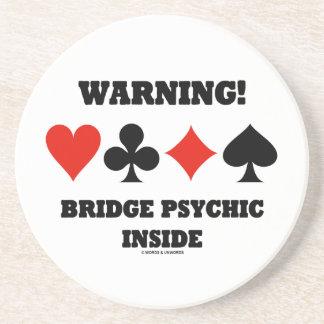 Porta-copos De Arenito Aviso! Interior psíquico da ponte (quatro ternos