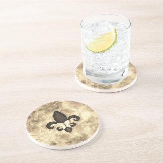 Porta-copos De Arenito Borboleta bege de Tan Brown do Sepia do bar | da