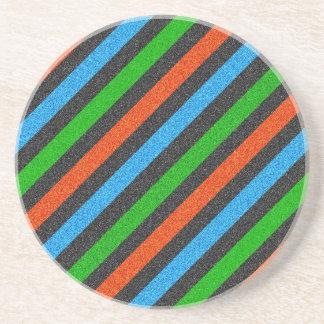 Porta-copos De Arenito Brilho alaranjado, azul, verde, preto STaylor