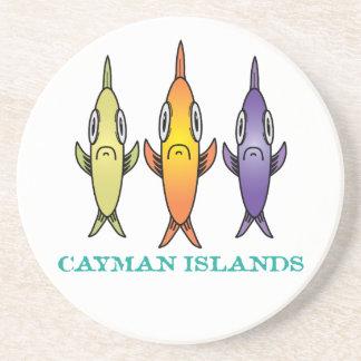 Porta-copos De Arenito Cayman Islands 3-Fishes