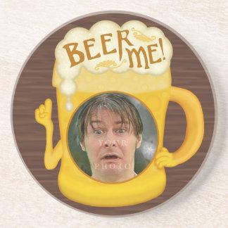 Porta-copos De Arenito Cerveja engraçada mim foto personalizada | do
