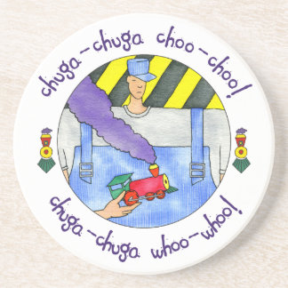 Porta-copos De Arenito Chuga Chuga Choo Choo