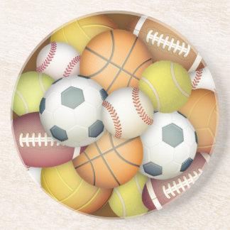 Porta-copos De Arenito Esporte-bolas