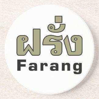 Porta-copos De Arenito Estrangeiro do ♦ de Farang no ♦ do roteiro da