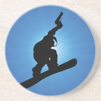 Porta-copos De Arenito Fora da lei do Snowboard
