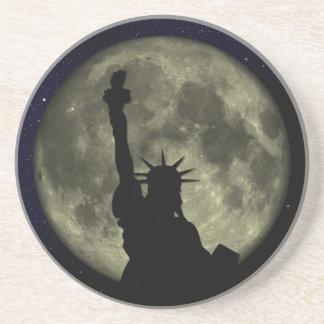 Porta-copos De Arenito Lua e senhora Liberdade