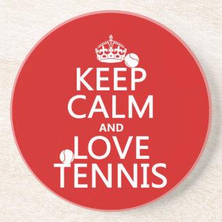 Porta-copos De Arenito Mantenha a calma e ame o tênis