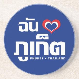 Porta-copos De Arenito Mim ❤ Tailândia de Phuket do coração (amor)
