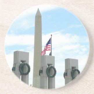 Porta-copos De Arenito Monumento de Washington e memorial de WWII na C.C.