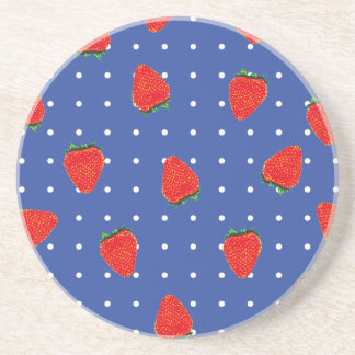 Porta-copos De Arenito morangos com pontos