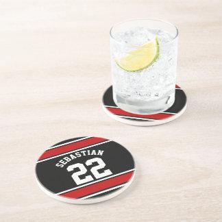 Porta-copos De Arenito Nome personalizado novidade do jérsei do futebol