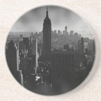 Porta-copos De Arenito Nova Iorque preta & branca