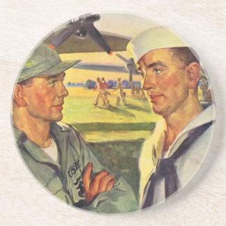 Porta-copos De Arenito O soldado da segunda guerra mundial encontra o