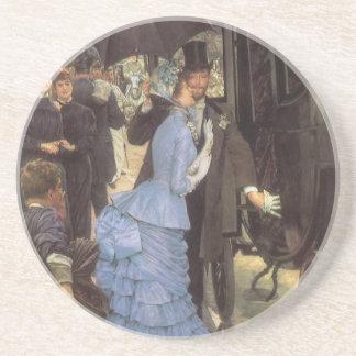 Porta-copos De Arenito O viajante (aka dama de honra) por James Tissot