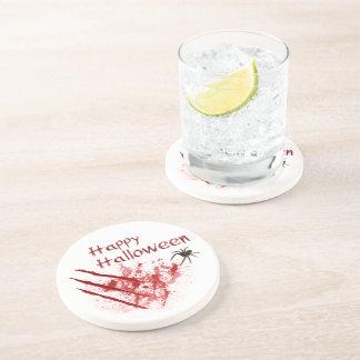Porta-copos De Arenito Riscos felizes do Dia das Bruxas Bloody - porta