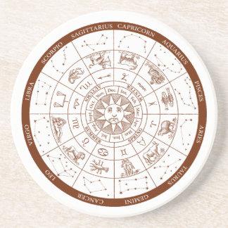 Porta-copos De Arenito Sinais do zodíaco