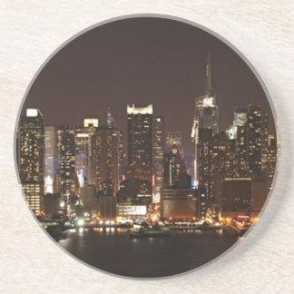 Porta-copos De Arenito Skyline da Nova Iorque