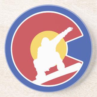 Porta-copos De Arenito Snowboard de Colorado