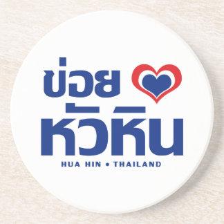 Porta-copos De Arenito ❤ Tailândia de Khoi Huk (coração/amor de I) Hua