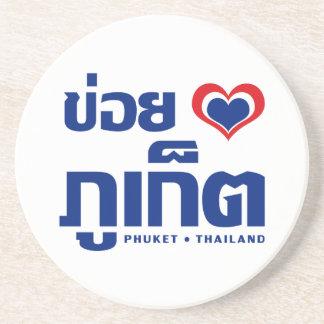 Porta-copos De Arenito ❤ Tailândia de Khoi Huk (coração/amor de I) Phuket