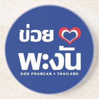 Porta-copos De Arenito ❤ Tailândia de Phangan do Koh de Khoi Huk