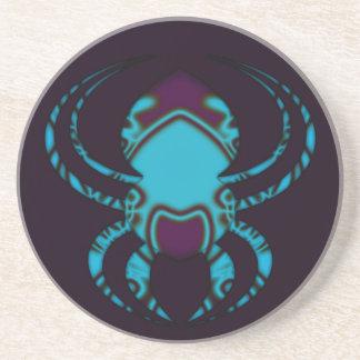 Porta-copos De Arenito Tatuagem do azul da aranha