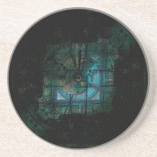 Porta-copos De Arenito Vapor espiral do topázio