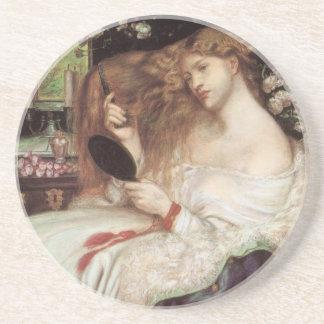 Porta-copos De Arenito Victorian Portait do vintage, senhora Lilith por