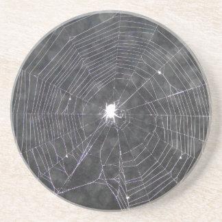 Porta-copos De Arenito Web de aranha na noite