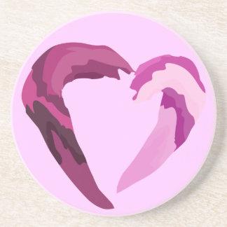 porta copos de derretimento do coração roxo