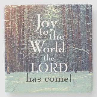 Porta Copos De Pedra A alegria ao mundo o senhor veio, floresta do