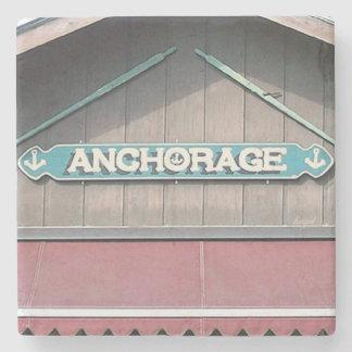 Porta Copos De Pedra Anchorage, doca do barco, lago Burton, porta copos