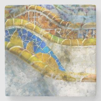 Porta Copos De Pedra Bancos do mosaico de Parc Guell na espanha de