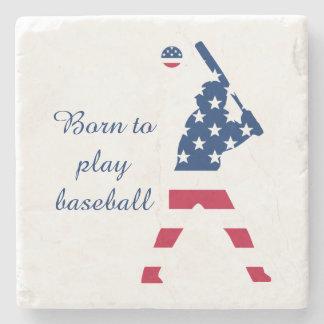 Porta Copos De Pedra Bandeira do americano do basebol de América