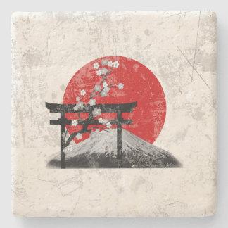 Porta Copos De Pedra Bandeira e símbolos de Japão ID153