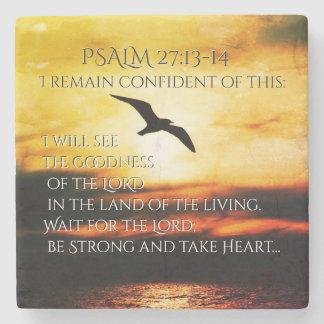 Porta Copos De Pedra Eu verei os bens do 27:13 do senhor Salmo - 14
