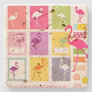 Porta Copos De Pedra Flamingos
