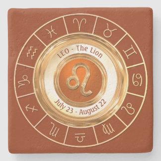 Porta Copos De Pedra LEO - o símbolo do horóscopo do leão