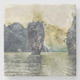 Porta Copos De Pedra Paraíso tropical de Phuket Tailândia em Ásia