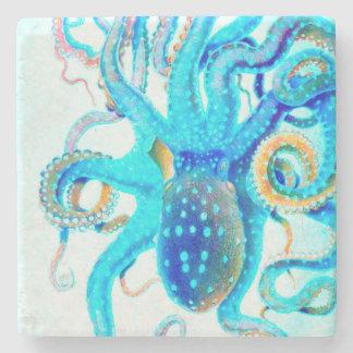 Porta Copos De Pedra Polvo colorido azul