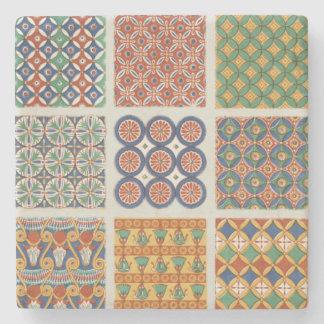 Porta Copos De Pedra Portas copos persas do mármore do azulejo de